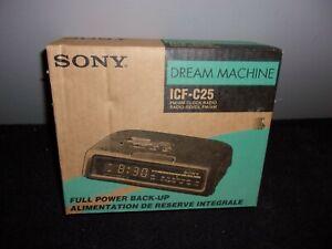SONY ICF-C25 DREAM MACHINE FM/AM CLOCK RADIO WHITE NEW IN BOX