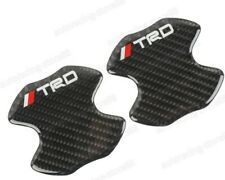 2PCS TRD Carbon Fiber Anti Scratch Badge Door Handle Bowl Cover Trim For TOYOTA