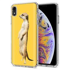 Thin Gel Phone Case Apple iPhone Xr,Realistic meerkat Wild Animal Jungle Print