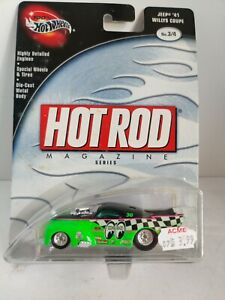 HOT WHEELS JEEP 1941 WILLYS COUPE No. 3/4 HOT ROD MAGAZINE SERIES Rare.