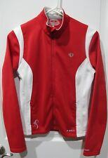 PEARL IZUMI Elite Red & White Thermal  Cycling Jacket- Size Small