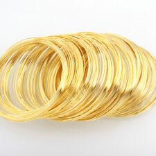 Armbänder Schmuckteile Stahl 100 Ringe MEMORY WIRE Spiraldraht 6cm Gold M290A