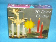 "Angel Chime Party Candles, 1/2"" Diameter x 4"" Tall, 20 in New Box, Yellow"