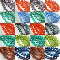 FREE SHIP 100pcs 4x6mm Faceted Loose Findings Spacer Glass Crystal Beads