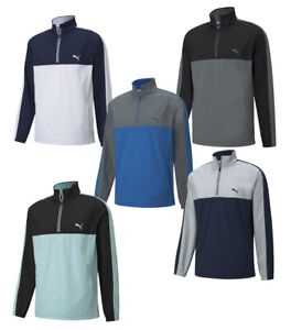 Puma Mens Riverwalk Wind Golf Jacket 1/4 Zip 599237 - New 2021