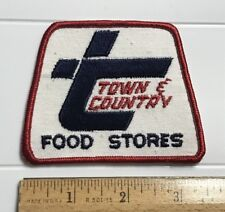Town & Country Food Stores TX NM Grocery Convenience Store Embroidered Patch