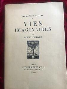 Schwob Marcel Lébédeff Les vies imaginaires Maîtres du Livre Georges Crès 1921
