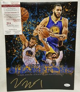 JaVale McGee Autographed Golden State Warriors Collage 11x14 Photo. JSA