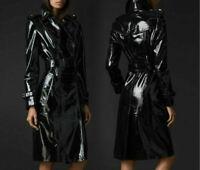 PVC Vinyl Women's Trench Coat All sizes