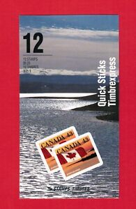 1993 CANADA STAMPS  BOOKLET  BK158 #  1389a  '' QUICK STICK ''  oc20
