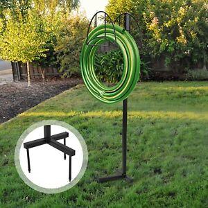 Garden Metal Hose Hanger Wall Mount Heavy Duty Hose Holder Water Hose Rack//Carrier//Keeper//Bracket//Hook for Outdoor Lawn Yard Black