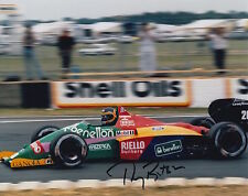 Thierry boutsen main signé 10x8 photo benetton F1.