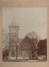 Large Card Mounted Photo of Church in Kingston Indiana