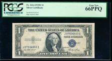 AC 1935E $1 Silver Certificate PCGS 66 PPQ J-I block Fr 1614 GEM UNCIRCULATED