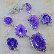 "Handmade Solar Quartz Natural Crystal 925 Sterling Silver Necklace 20"" #J90996"