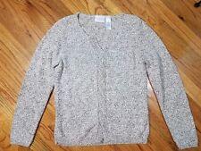 Liz Claiborne Lizwear Jeans Ladies Sweater Medium Oatmeal