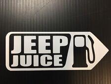 JEEP Juice WRANGLER Pick Your Color window body Gas Tank Sticker Decal Jk TJ JL