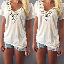 Fashion Women Chiffon Casual Short Sleeve Top Loose Summer T Shirt Tops Blouse