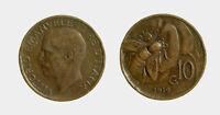 s810_1) Regno Vittorio Emanuele III (1900-1943) 10 Centesimi Ape 1919 RARA