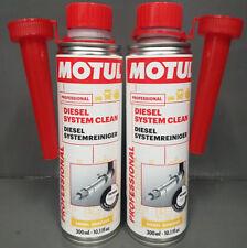2 x Motul Diesel Système nettoyer nettoyage de SYSTÈME DE CARBURANT 300ml #