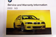 2003 bmw m3 owners maintenance service book manual e46 warranty booklet new