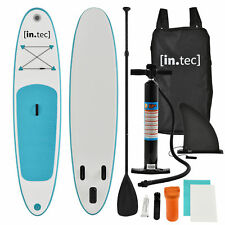 [in.tec]®SUP-Stand Up Paddle gonfiabile-Paddle Board-305x71x10cm-Turchese/Bianco