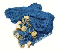Deko XXL Fischernetz 11,5 m² blau ca. 3,4 x 3,4 m mit Korkbojen