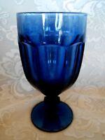 Vintage LIBBEY/ROCK SHARPE DURATUFF 16 oz.Dark Blue Iced Tea/ Water Goblet - USA