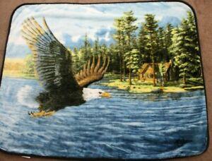 Northwest Royal Plush Raschel 50 Inch x 60 Inch - Summer Domain Throw Blanket