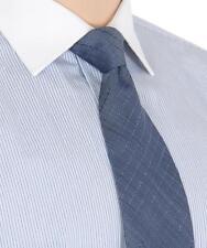 Ermenegildo Zegna Blue Woven Striped Pattern Silk Neck Tie