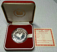 1981 - Singapore - $10 Dollars Silver Proof Rooster Complete With COA&Case #CCQO