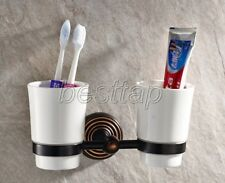 Black Oil Rubbed Brass Wall Mount Bathroom Accessories Toothbrush Holder sba143