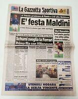 GAZZETTA DELLO SPORT 30 MARZO 1997 QUALIF. MONDIALI ITALIA-MOLDOVA 3-0