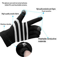 [Genuine Quality]Soft Black Men Hand Wrist Warmer Fingerless Touch Screen Gloves