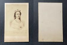 L'impératrice Eugénie en diadème, d'après une gravure, circa 1860 vint