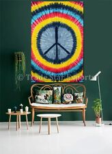 Ethnic Peace Sign Tapestry Indian Tie Dye Wall Hanging Twin Hippie Throw Decor