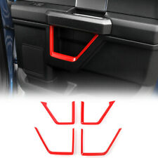 4X Inner Door Frame Strip Trim Decor Cover For Ford F150 2015-20 Red Accessories