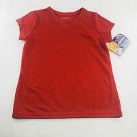 Bally Total Fitness Women's Size Medium Workout Shirt Sun Smart Tech V-neck