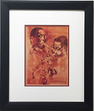 "LeRoy Neiman ""Bird and Diz"" CUSTOM FRAMED Jazz - Charlie Parker Dizzy Gillespie"