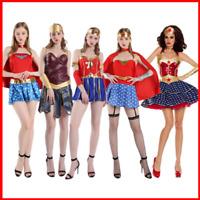 Wonder Woman Deluxe Adult Womens Dress Sexy Superhero Halloween Cosplay Costume
