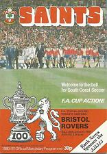 Football Programme - Southampton v Derby County -  FA Cup Replay - 10/1/1989