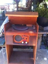 Vintage RCA Childs Tube Radio and Record Player 1950s wood case