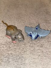New listing Vintage Hasbro Transformers Beast Wars Rattrap & Bat Action Figure Nice !