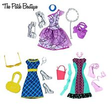☠ MONSTER HIGH FASHION PACK OUTFITS LOT SPECTRA FRANKIE LAGOONA CLOTHES SHOES ☠