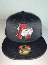 New Era Altoona Curve MILB Mesh Black Batting Practice Fitted Hat Cap NWT 7 3/4