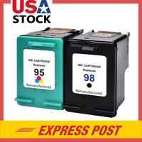 2 PK 98 & 95 Ink Cartridges for HP Photosmart C4100 C4180 D5065 D5155 2575v 8049