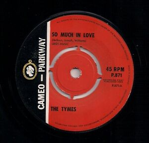 """60s MOD SOUL 7"""" THE TYMES - SO MUCH IN LOVE - UK CAMEO PARKWAY - NEAR MINT"""