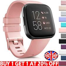 UK For Fitbit Versa 2 / Versa / Versa Lite Replacement Silicone Watch Band Strap