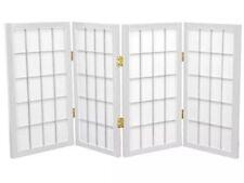 ORIENTAL FURNITURE 2 ft. Tall Desktop Window Pane Shoji Screen - White - 4