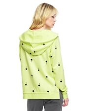 NWT-Juicy Couture PALM TREE TERRY HOODIE in PINA COLADA Neon Yellow/Green-SMALL